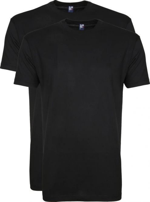 Alan Red Virginia T-shirt Ronde Hals (2-Pack)