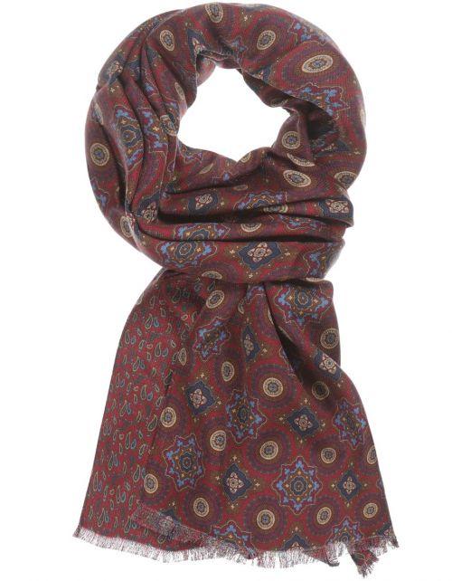 Zijden Sjaal aan twee kanten bedrukt