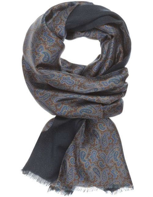 Sjaal van Zijde en Wol
