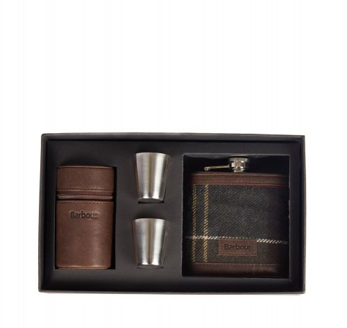 Barbour  Hip Flask and Cups