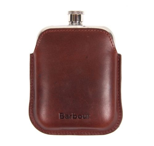 Barbour Wax Leather Hipflask